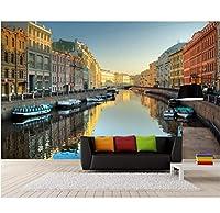 Wuyyii 3D部屋の壁紙カスタム壁画ヨーロッパ町運河風景装飾絵画3D壁壁画壁紙用壁3 D