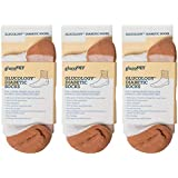 Glucology Diabetes Socks- 3 Pack (White) Mens and Womens Socks- Classic Edition- Prime (Mens 9.5-11/ Womens 10.5-12)