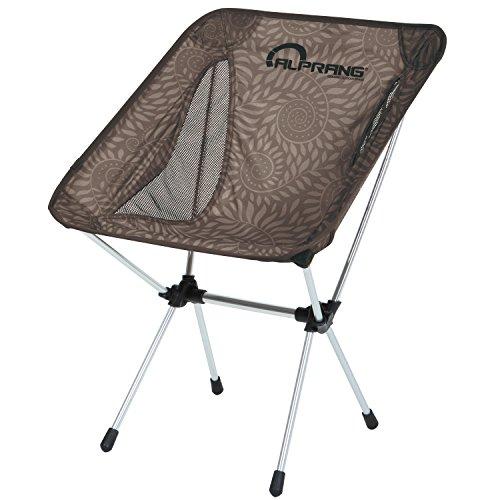 ALPRANG アウトドアテェア折りたたみ【耐荷重150kg】収納袋付属 コンパク 超軽量 携帯便利 キャンプ椅子