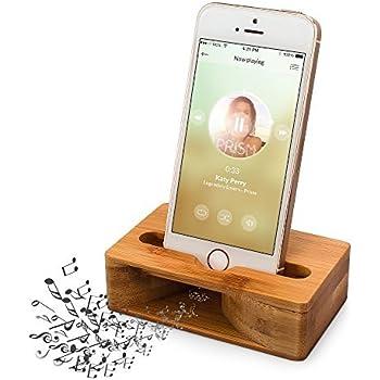 (更新版)木製スピーカー ARCHEER iPhoneスタンド・携帯スマホスタンド・天然竹スタンド・ スマホホルダー サウンドアンプ機能を付け 竹製スマホスピーカー 手作り 電源不要 iphone/Samsung/xperia 等の4.7-5.5インチスマホを対応