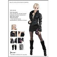 女性用 レザージャケット コスチューム セット Artcreator_BM dollsfigure cc212