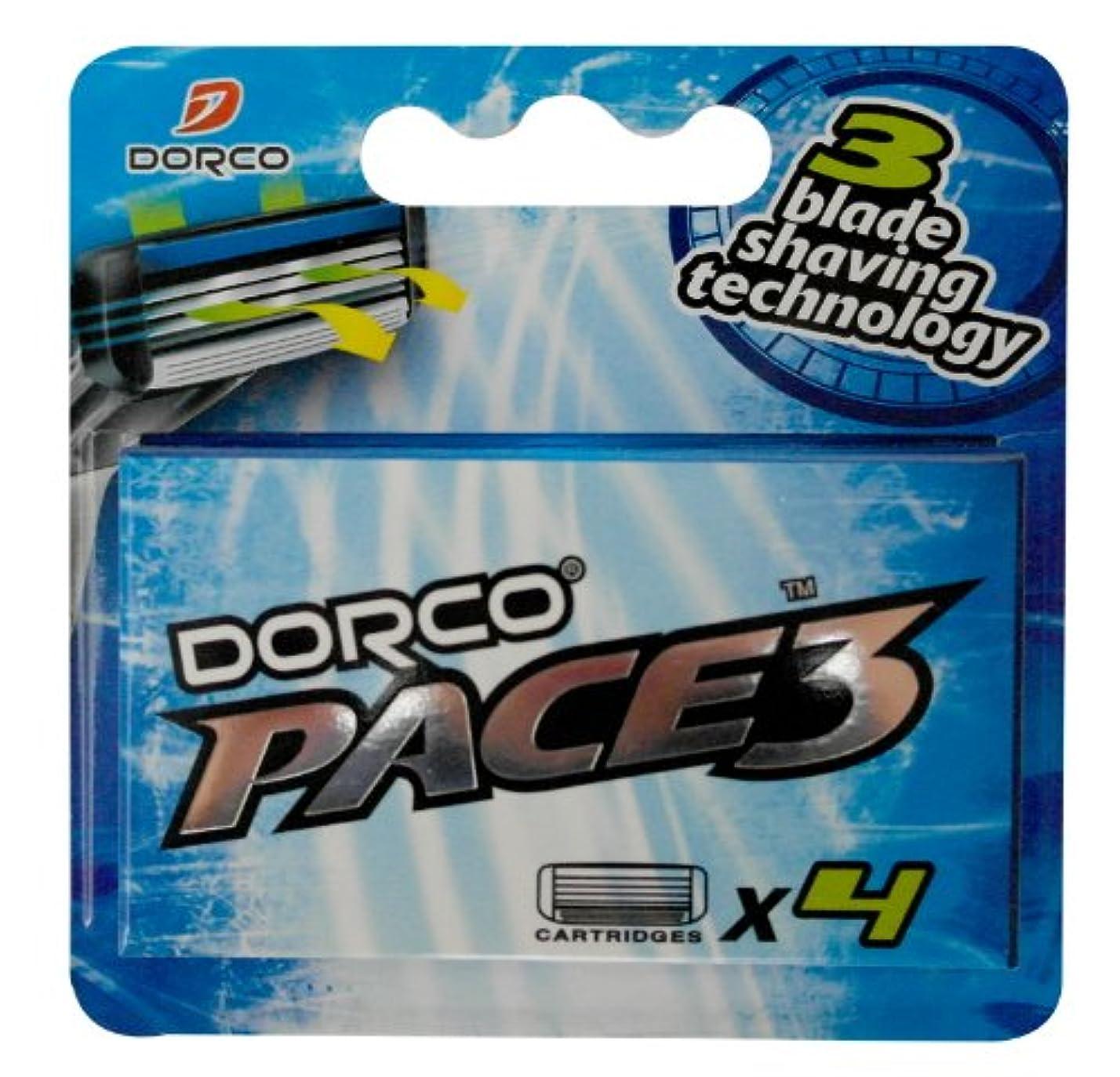 フィードオンインタフェース硬さDORCO ドルコ PACE3 男性用替刃式 カミソリ3枚刃 替え刃