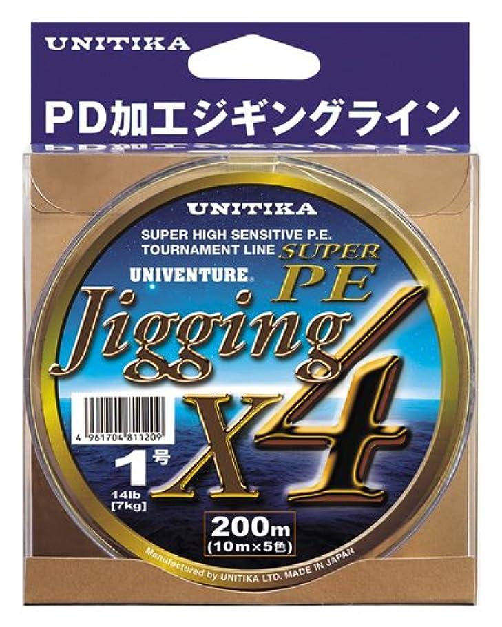 シリング歌手主権者ユニチカ(UNITIKA) ライン ユニベンチャージギングX4 300m 2号