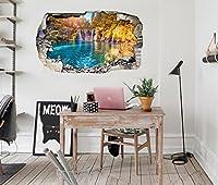 3D 美しい湖の景色 9 ウォールステッカー 壁の装飾 壁紙 壁画 三次元 突破口 世帯 ホームインテリアフォト Carly (150*80cm)