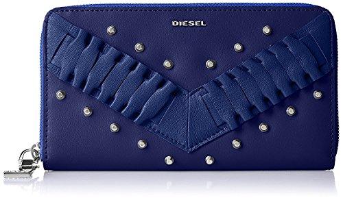 (ディーゼル) DIESEL レディース ラウンドジップ長財布 LE-ZIPPER GRANATO - wallet X05025P1480