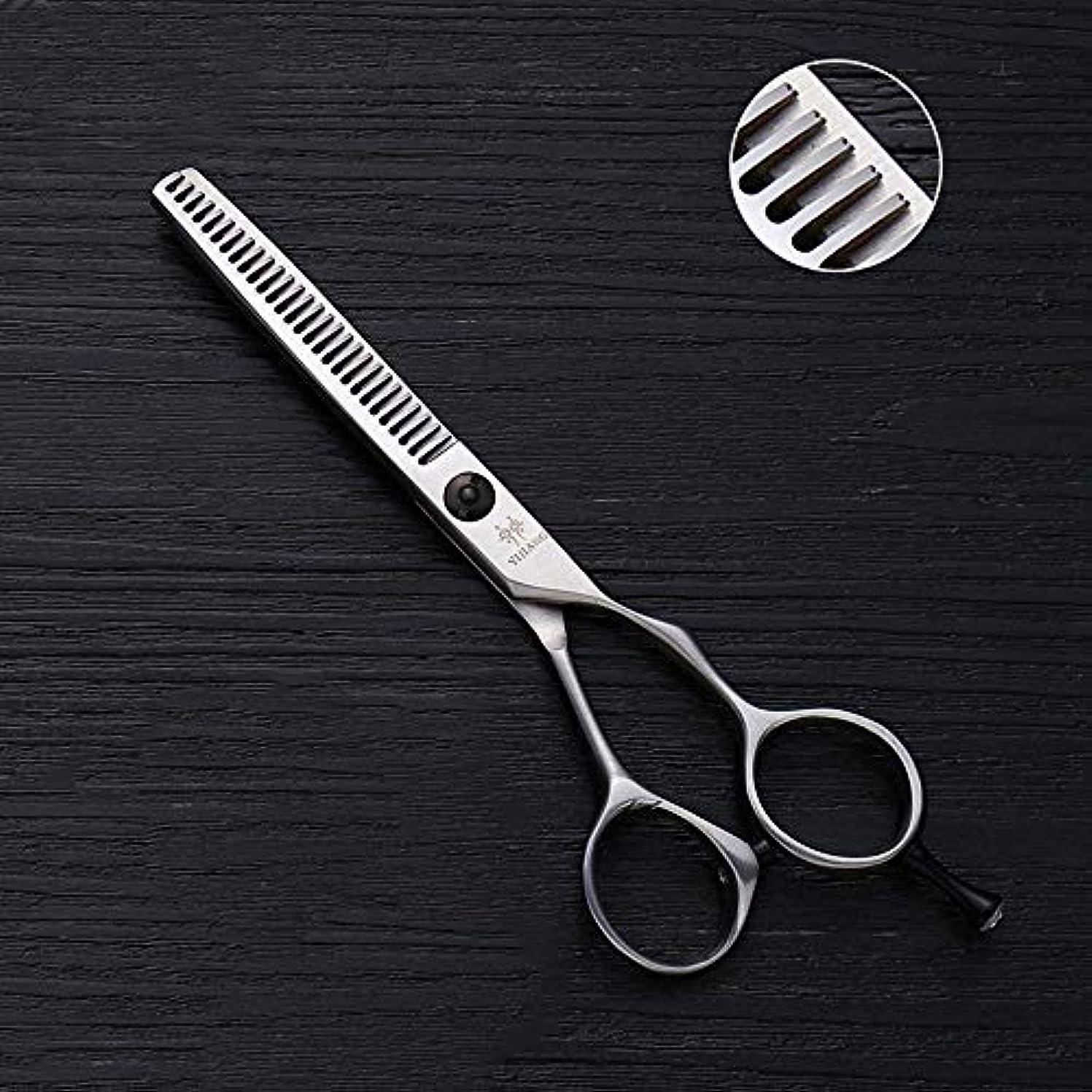 部屋を掃除する悪質な人物5インチの理髪はさみ、28歯の間伐はさみ、ステンレス鋼のV歯ヘアカット モデリングツール (色 : Silver)