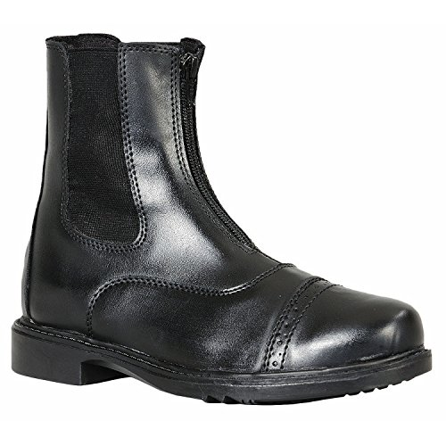 <乗馬・乗馬用品・馬具> AWフロントジップ ジョッパー乗馬用ブーツ (ブラック, US7=23cm)