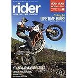 rider (ライダー) vol.12 [雑誌] (オートバイ 2017年7月号臨時増刊)