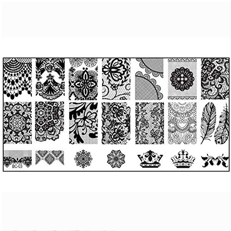 ポテトトラフィック西ネイルは、プレス板ステンシルスタンプテンプレートレースや花柄、自分でネイルイメージングプレートネイル