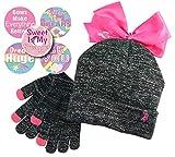 子供用冬用ビーニー帽と手袋のセット 5種類のセット 冬用ギフトセット かわいい動物ヘッドウェア OneSize グレイ abc