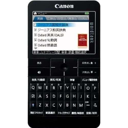 Canon 電子辞書 TOEIC/TOEFL対策付き英語モデル wordtank A512 BK