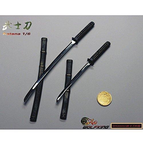 1/6フィギュア用アクセサリー/ 日本刀 太刀&脇差 1/6 セットB WK88002
