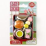 おもしろけしごむ和菓子セットJapan motif eraser