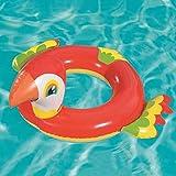クラシック 男女兼用 浮き輪 レディース夏浮輪 水インフレータブルオウム水泳リング夏のポータブルプールビーチフローティングプールの装飾大人子供カップル赤33 * 30インチ 可愛い浮輪 海水浴 プール 水遊び 海フロート