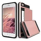 iPhone6s Plus / iPhone6 Plus ケース カード 収納 VERUS Damda Slide 背面 カードケース 耐衝撃 二重構造 衝撃 吸収 カバー [ アイフォン 6s プラス / 6 プラス 専用 ] ローズゴールド