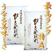 【最高ランク特A地区】宮城県登米産 ひとめぼれ 白米 10kg(5kg×2)1等米