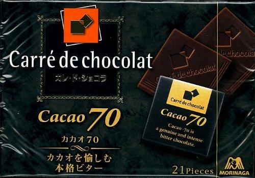 森永製菓 カレ・ド・ショコラ<カカオ70> 21枚入×6箱