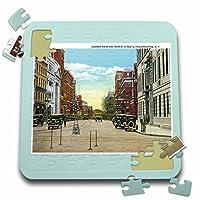 BLNヴィンテージ米国都市とはがきStates–コーナーメインと市場Streets、ポキプシー、ニューヨークストリートシーン–10x 10インチパズル( P。_ 170365_ 2)