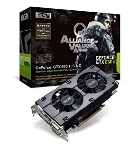 ELSA NVIDIA GeForce GTX 660 Ti搭載 Alliance of Valiant Arms 推奨グラフィックスボード 日本正規代理店品 VD4795 GD660-2GERTI