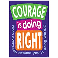 Trend Enterprises T-A67069 Courage Is Doing Right When Poster