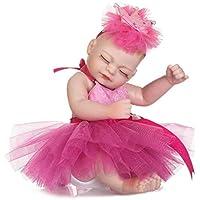 Domybest リボーンベビードール 人形 赤ちゃん 子供玩具 ビニールリアル 女の子 抱き人形 可愛い 姫様 着せ替え人形 寝る ヘアバンド付け ベビー ケア レーニング シリコン プレゼント 出産祝い 26cm
