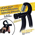 Premium Quality Hand Grip Strengthener Exercise Set (5 pack) - Adjustable Resistance Hand Gripper, Finger Exerciser, Finger Stretcher, Grip Ring and Squeeze Stress Ball - Great for Hand Strengthening Workout - Hand Rehabilitation - Enhances Hand Flexibili