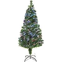 life_mart ファイバーツリー クリスマスツリー 光ファイバー イルミネーション 高輝 (150cm, グリーン)