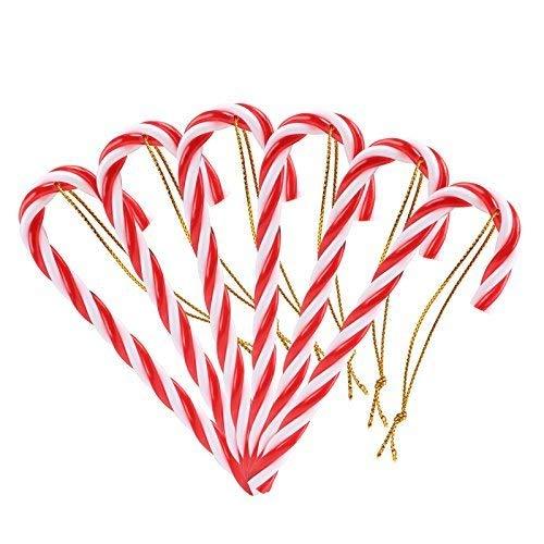NALER クリスマスツリー オーナメント 杖 キャンディコーン キャンディケーン 装飾 キャンディケイン デコレーション 飾り candy canes 羊飼いの杖 12本