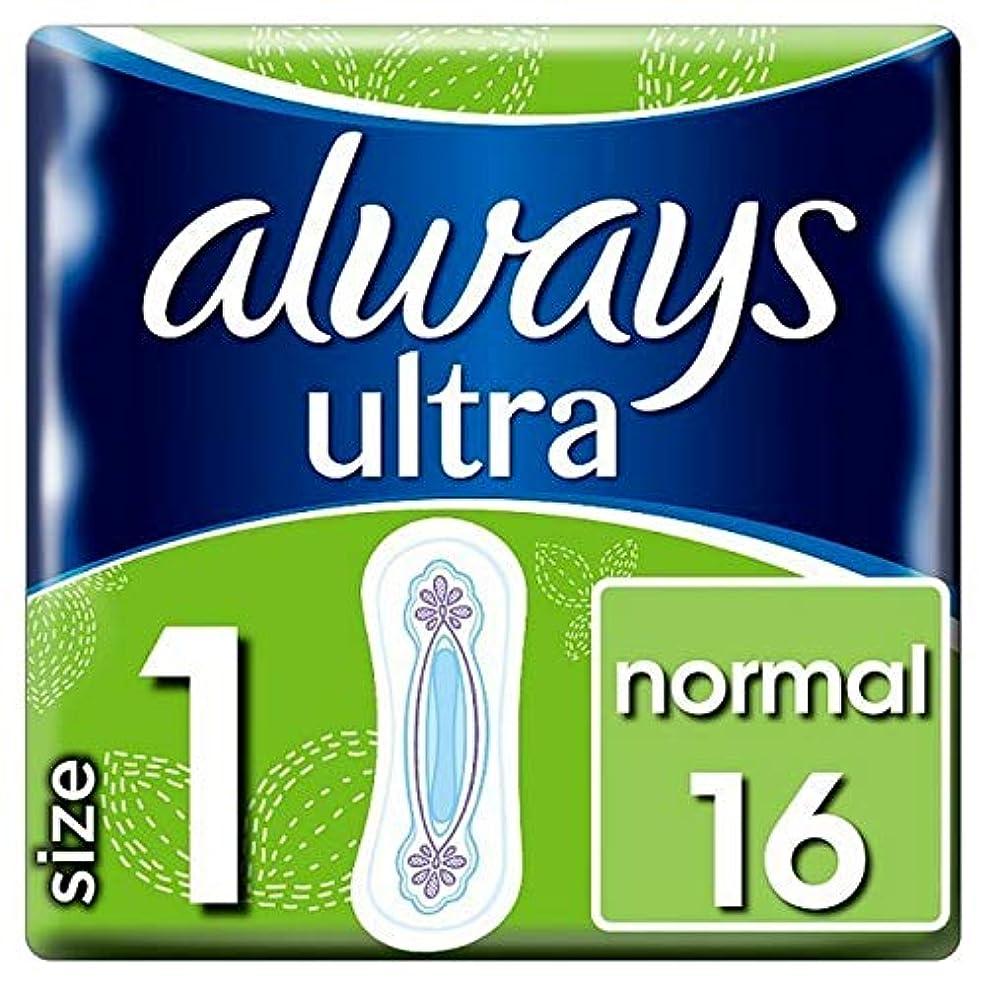 ライトニング意外窓[Always] 常に超正常な生理用ナプキン16Pck - Always Ultra Normal Sanitary Pads 16pck [並行輸入品]