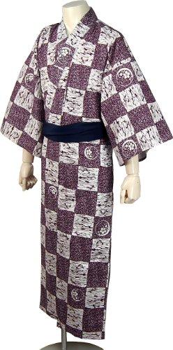 寝巻き 浴衣(男女兼用仕立上りSML)平袖(ホテル・旅館業務対応) Mサイズ