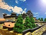 日本100名城 現存天守12城 国宝 松江城 お城 模型 ジオラマ完成品 A4