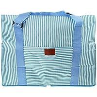 旅行バッグ キャリーバッグ 折りたたみ式 スーツケースの持ち手に通せる 女性バッグ 32L 手提げカバン エコバッグ 収納力 大容量 トラベルバッグ 多機能 ボストンバッグ 縞柄 肩掛け 便利かばん