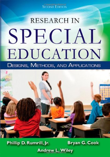 Download Research in Special Education: Designs, Methods, and Applications 0398086044