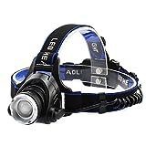 ヘッドライト LED ヘッドランプ 1200ルーメン ズーム機能付き 軽量 登山 夜釣り 狩猟 IPX4防水 アウトドアに最適 単四電池対応 Taotuo