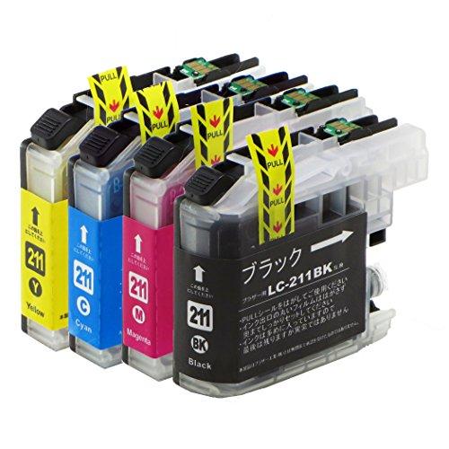 ブラザー 用 LC211-4PK 互換インク 4色セット 残...