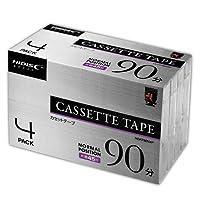 【200巻セット】HIDISC HDAT90N4P オーディオテープ 90分 ノーマルポジション 4巻パック×50個