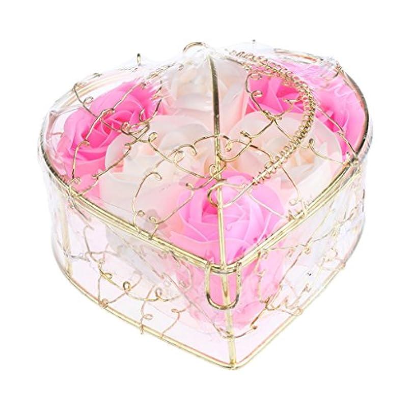 セットする採用する効果的にBaoblaze 6個 石鹸の花 母の日 プレゼント 石鹸 お花 枯れないお花 心の形 ギフトボックス プレゼント 全5仕様選べる - ピンクとホワイト