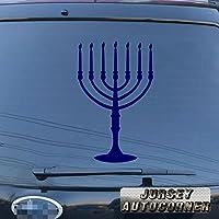 3s MOTORLINEメノーラーユダヤ教イスラエルJew車ビニールデカールバンパーステッカー7分岐Pickカラーサイズ 32'' (81.3cm) ブラック 20180402s14