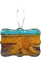 Rikki Knight RKWS-SQORN-1445 Van Gogh Art Sheaves Christmas Ornament/Car Rear View Mirror Hanger [並行輸入品]