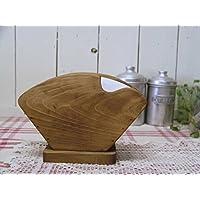 コーヒーフィルターケース 木製 ひのき アンティークブラウン シンプル 大人数用 コーヒーペーパーケース 受注製作