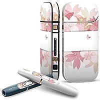 IQOS 2.4 plus 専用スキンシール COMPLETE アイコス 全面セット サイド ボタン デコ フラワー 桜 花 ピンク 001192