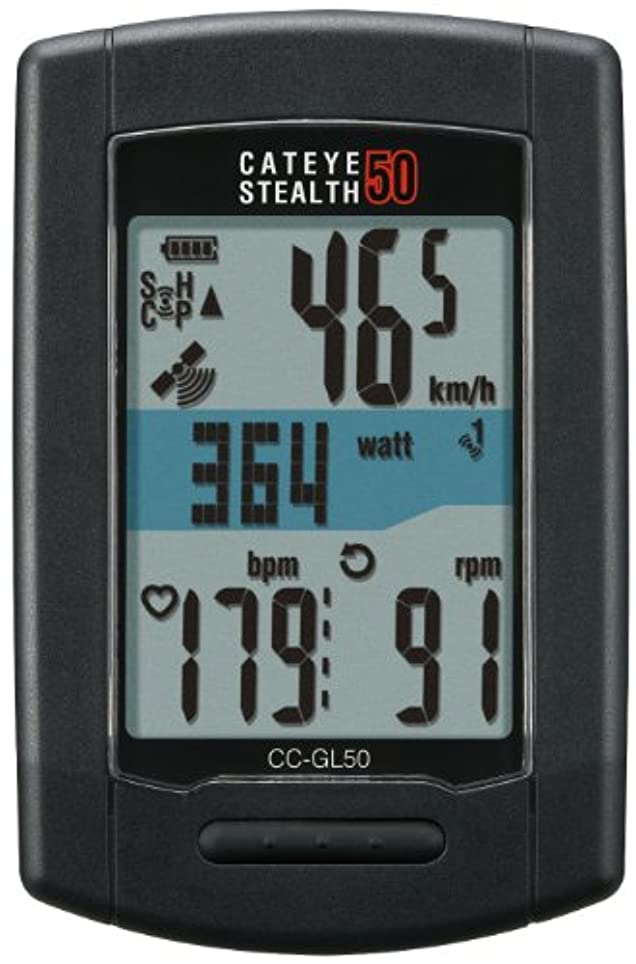 文献強いヒギンズキャットアイ(CAT EYE) ステルス50 [CC-GL50] GPS ANT+対応 スピードセンサーレス
