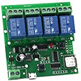 WiFi Relay Switch Module Phone Remote Timer Control for Wireless Android iOS (5-32V 4-Channel)