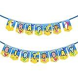 かわいいサメの誕生日バナーパーティー用品 子供と大人用 誕生日パーティーデコレーション