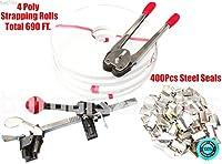 skemidex --- StrappingツールキットPoly 690フィートストラップ400スチールSeals +ツールロール供給設定。ポリStrapping巻、690フィート合計。Complete Strappingツールキット。Strapping Crimper、クロムメッキ、パウダー