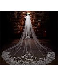 シュウクラブ- 韓国のヘッド糸のまつげのレースのレースロングテール糸のウェディングドレスの花嫁のベールのアクセサリー