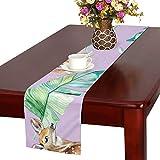 GGSXD テーブルランナー 陸上の鹿 クロス 食卓カバー 麻綿製 欧米 おしゃれ 16 Inch X 72 Inch (40cm X 182cm) キッチン ダイニング ホーム デコレーション モダン リビング 洗える