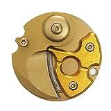 コロンビア GoodsLand コイン型 アウトドアナイフ キーホルダー コンパクト フォールディング 折り畳み 折りたたみ ナイフ 持ち運び アウトドア ツール (ゴールド) GD-COIN-KNIFE-GD