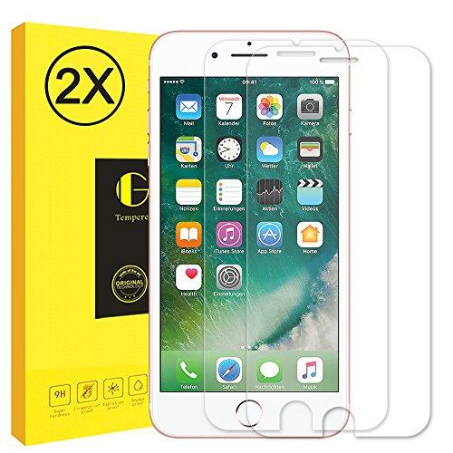 iPhone8/7 ガラスフィルム Vkaiy [2枚] iPhone7/8 保護フィルム 液晶保護 強化ガラス 9H 気泡防止 自然吸着