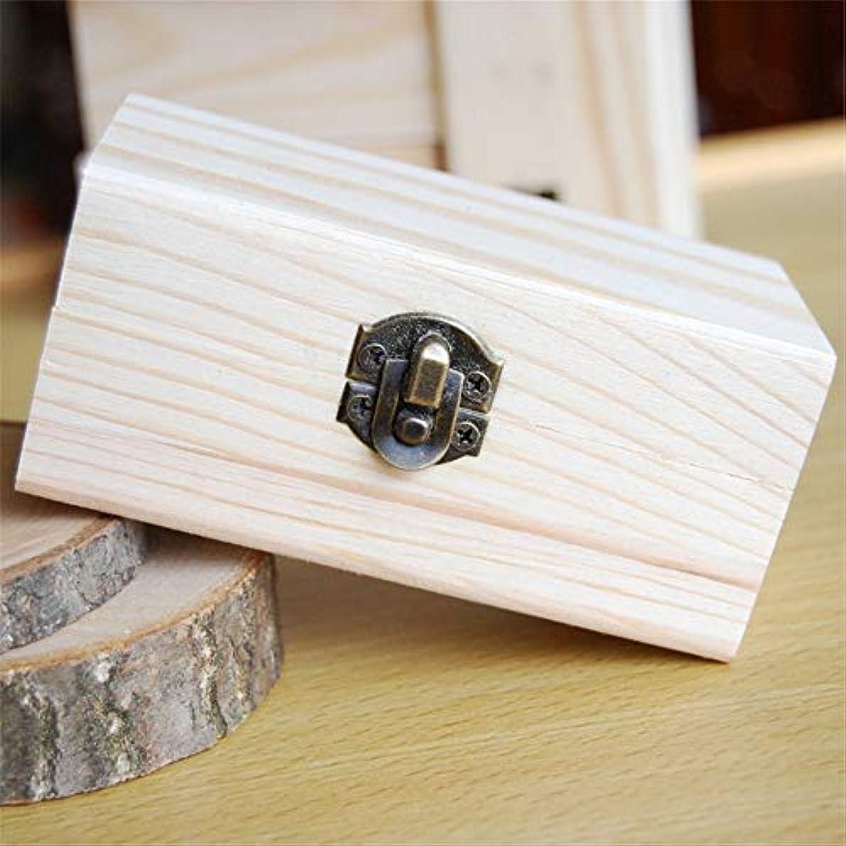 モード大学ビルエッセンシャルオイル収納ボックス あなたの油安全10x6x5cmを維持するための品質の木製エッセンシャルオイルストレージボックスベスト ポータブル収納ボックス (色 : Natural, サイズ : 10X6X5CM)